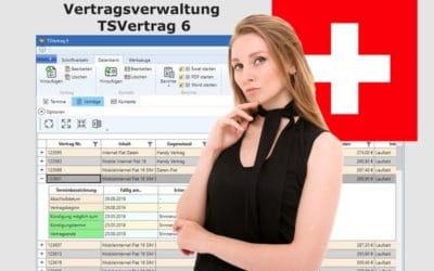Vertragsverwaltung und Schweizer Franken